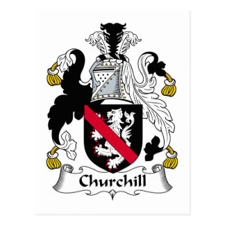 Churchill Family Crest Postcard