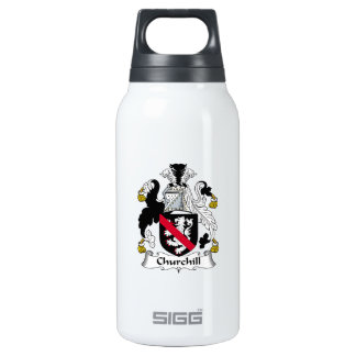 Churchill Family Crest 10 Oz Insulated SIGG Thermos Water Bottle