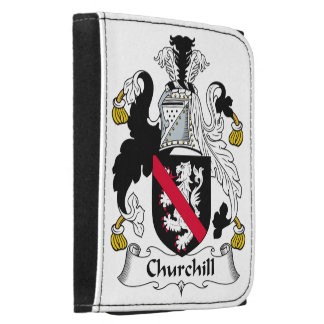 Churchill Family Crest Leather Trifold Wallets