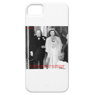 Churchill & Famous Marriage Quote iPhone 5 Case