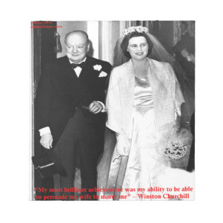 Churchill & Famous Marriage Quote Notepad
