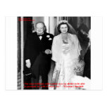Churchill & Famous Marriage Quote Post Card