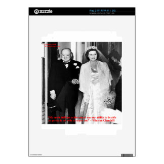 Churchill & Famous Marriage Quote Skins For iPad 2