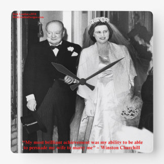 Churchill & Famous Marriage Quote Wall Clock