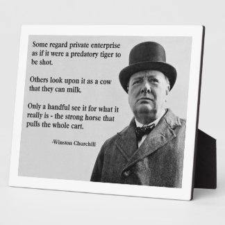 Churchill Free Enterprise Quote Plaque