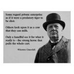 Churchill Free Enterprise Quote Poster