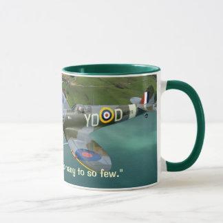 churchill honoring raf mug
