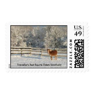 Churchill in Snow stamp