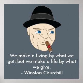 Churchill Inspirational Poster