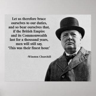 Churchill la hora más fina póster