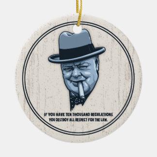 Churchill -Laws Ceramic Ornament
