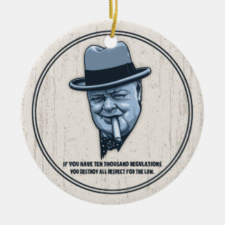Churchill -Laws Double-Sided Ceramic Round Christmas Ornament