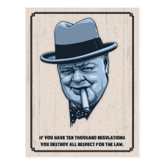 Churchill -Laws Postcard