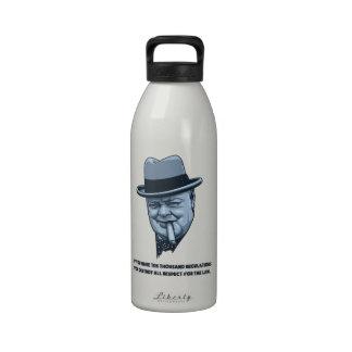Churchill - leyes botella de beber