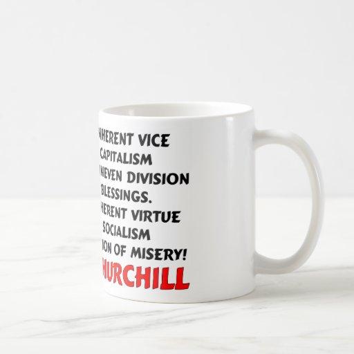 Churchill: Misery Of Socialism Classic White Coffee Mug