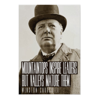 Churchill Mountaintops quote poster