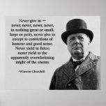Churchill nunca da adentro impresiones
