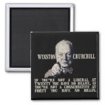 Churchill on Conservatives and Liberals 2 Inch Square Magnet