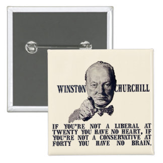 Churchill on Conservatives and Liberals Button