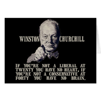 Churchill on Conservatives and Liberals Card