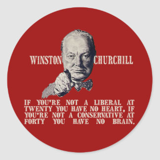 Churchill on Conservatives and Liberals Classic Round Sticker