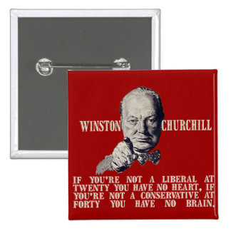 Churchill on Conservatives and Liberals Pinback Button