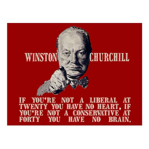 Churchill on Conservatives and Liberals Postcard
