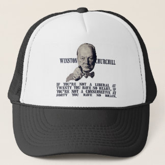 Churchill on Conservatives and Liberals Trucker Hat