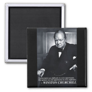Churchill 'Optimist..opportunity' quote magnet