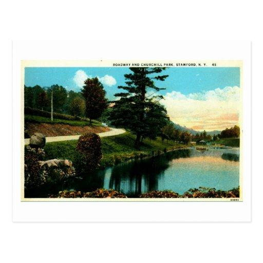 Churchill Park, Stamford, New York Vintage Postcard
