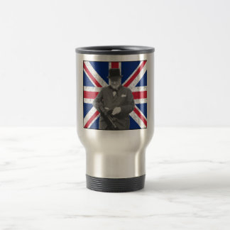 Churchill Posing With The British Flag Coffee Mugs
