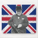 Churchill que presenta con un arma de Tommy Tapete De Raton