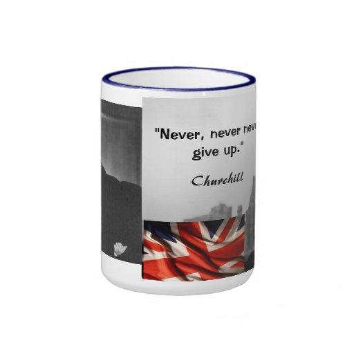 churchill quote coffee mug