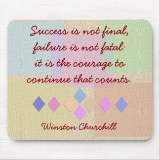 Churchill quote - mousepad