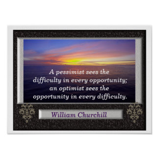 Churchill quote - poster
