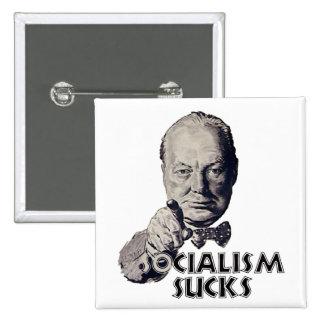 Churchill Quote: Socialism Sucks! Pinback Buttons