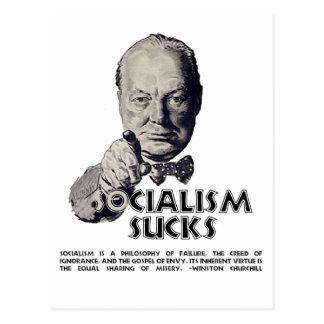 Churchill Quote:  Socialism Sucks! Postcard