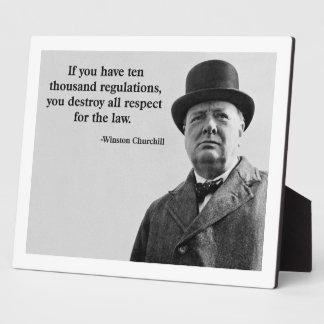 Churchill Regulations Quote Plaque
