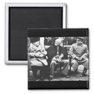 Churchill, Roosavelt & Stalin - At Yalta 2 Inch Square Magnet