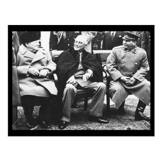 Churchill, Roosavelt & Stalin - At Yalta Postcard