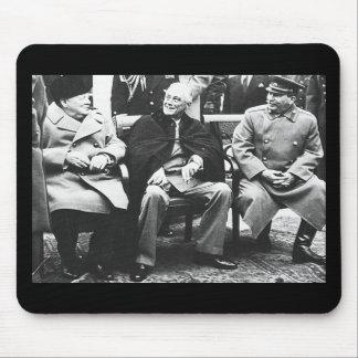 Churchill, Roosavelt y Stalin - en Yalta Tapete De Ratones