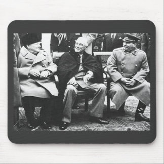 Churchill, Roosavelt y Stalin - en Yalta Tapete De Raton