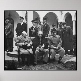 Churchill, Roosevelt, and Stalin -- Border Poster