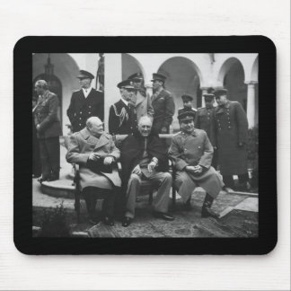 Churchill, Roosevelt, and Stalin Mouse Pad