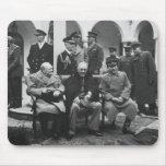 Churchill, Roosevelt, and Stalin Mousepads