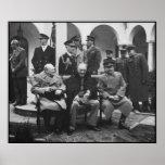 Churchill, Roosevelt, y Stalin -- Frontera Poster