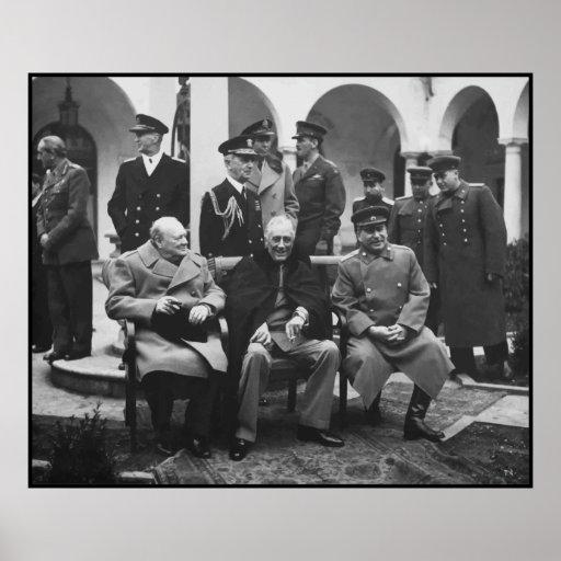 Churchill, Roosevelt, y Stalin -- Frontera Póster
