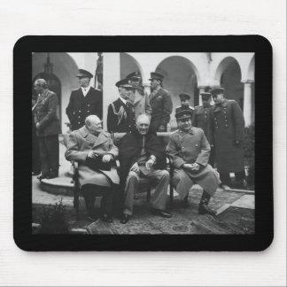 Churchill, Roosevelt, y Stalin Tapete De Raton