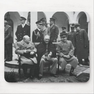 Churchill, Roosevelt, y Stalin Tapetes De Ratón