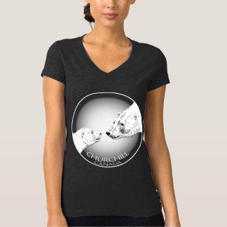 Churchill Souvenir Polar Bear Art T-Shirts Women's